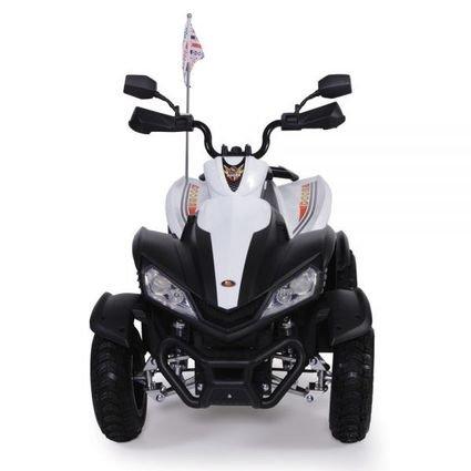Электроквадроцикл Dongma ATV White 12V - DMD-268A-W (АКБ 12v 7ah, колеса резина, многорычажная подвеска, музыка)