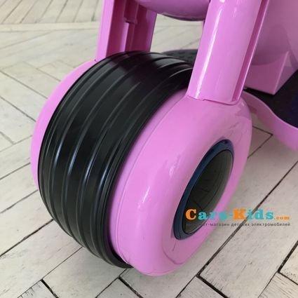 Детский электромотоцикл HL300 Pink 6V - HL300-P розовый (музыка, световые эффекты, мягкие колеса EVA)