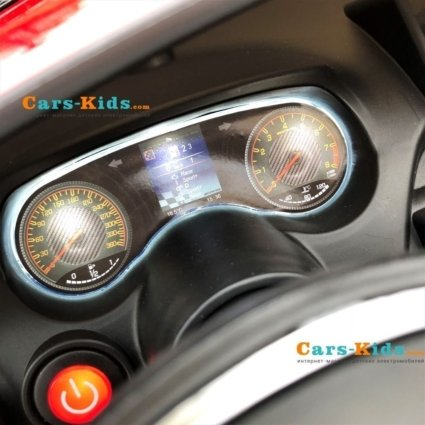 Электромобиль Mercedes-Benz GT R MP3 - HL289-4WD черный (2х местный, колеса резина, кресло кожа, пульт, музыка, кондиционер)